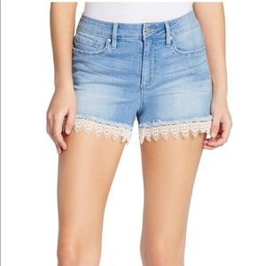 NWT Jessica Simpson Nomad Lace Jean Shorts